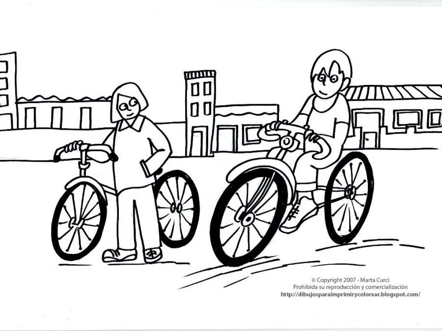 bicicletas para colorear | Pampas Pedaleros